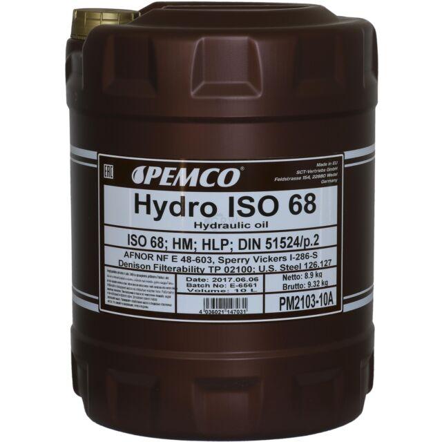 10 Liter Original PEMCO Hydrauliköl ISO 68 Hydro HLP 68 Oil