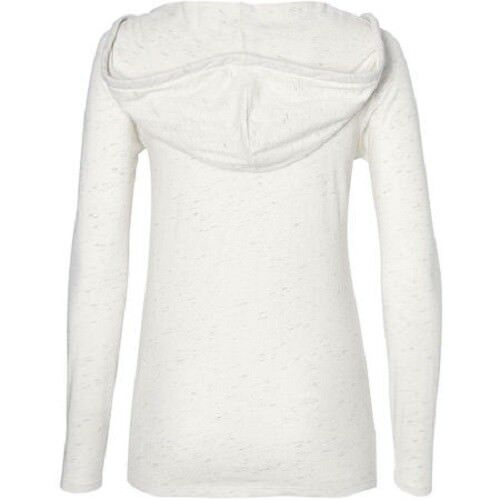 O/'Neill Ladies Marly Long Sleeve Hooded T Shirt in White Melee