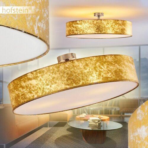 Design Deckenleuchte Deckenlampe Deckenstrahler Deckenlampen gold Farbe Stoff