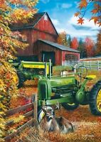 Jigsaw Puzzle Farm Life Tractor John Deere Family 1000 Piece With Tin