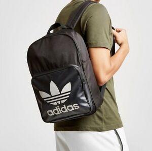 Details about Adidas Originals Classic Trefoil Street Run Backpack Rucksack Bag DY0091 Black