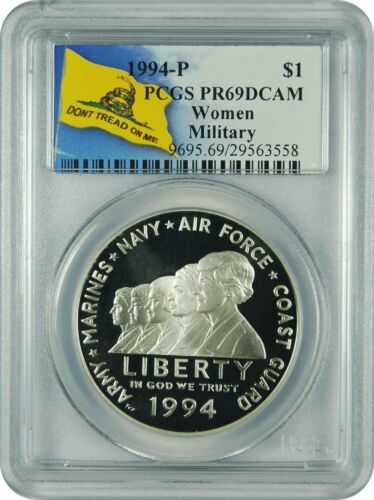 Dont Tread Label 1994-P PCGS PR69DCAM Women in Military $1 Commemorative