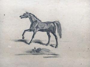 Black-Horse-Black-Horse-around-1920-28-x-35-cm-Gouache