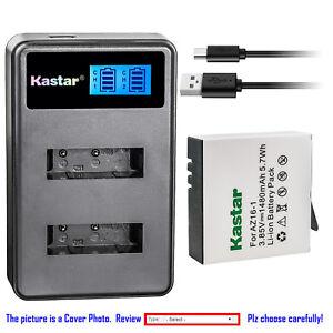 Kastar-Battery-LCD-Dual-Charger-for-Xiaomi-YI-AZ16-1-AZ16-2-Yi-4K-Action-Camera