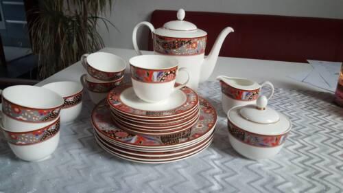 Traumhaft schönes Kaffeseevice von Hutschenreuther Serie Bone China aus Vitrine