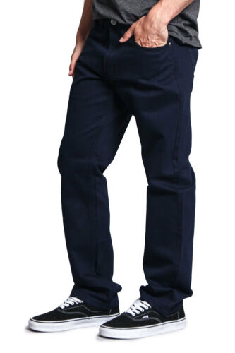 Victorious Mens Straight Fit Color and Raw Denim Jeans DL105 FREE SHIP