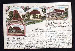 108533-AK-Kraschen-Kr-Guhrau-Litho-1899-Kirche-Schloss-Gasthaus-und-Post-Kahl-K