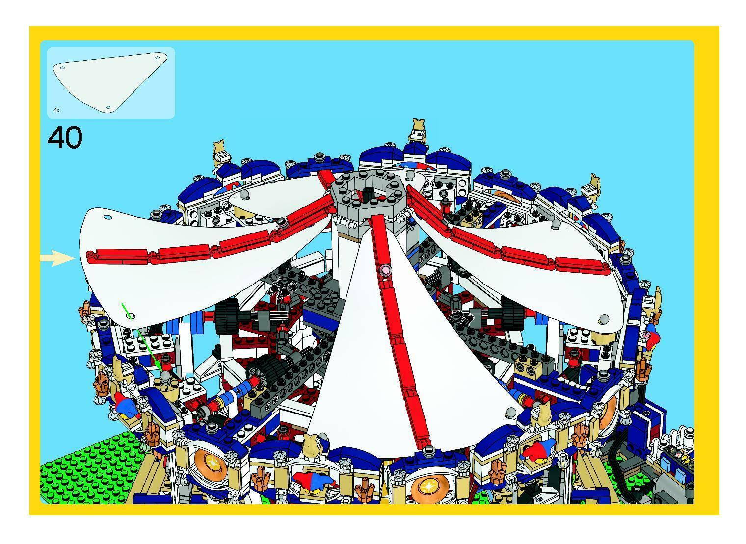 8pc LEGO 10196 Grand Carousel aftermarket Replacement Cloth Canvas Top -full set
