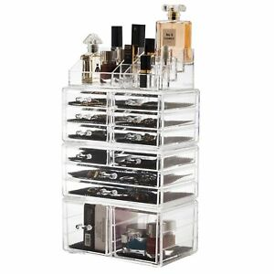 12Drawers Makeup Cosmetic Jewelry Organizer Large Storage Display
