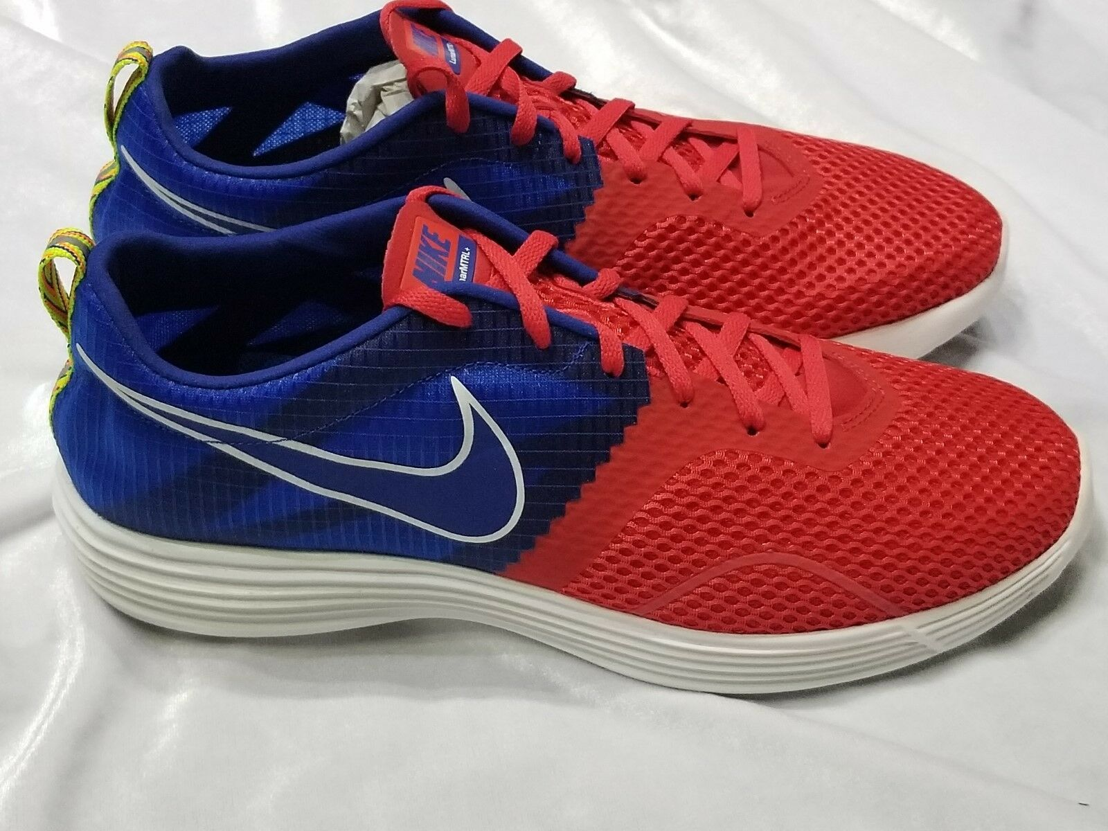 New RED NIKE MENS LUNARMTRL + RED New WHITE BLUE   Size 10.5 61c0cc