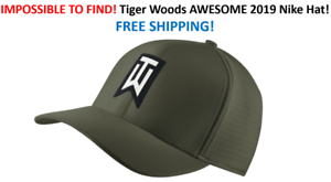 f0f63bc61 Details about RARE Nike TW Ultralite Canvas Green Golf Hat Tiger Woods FREE  SHIP IN BOX