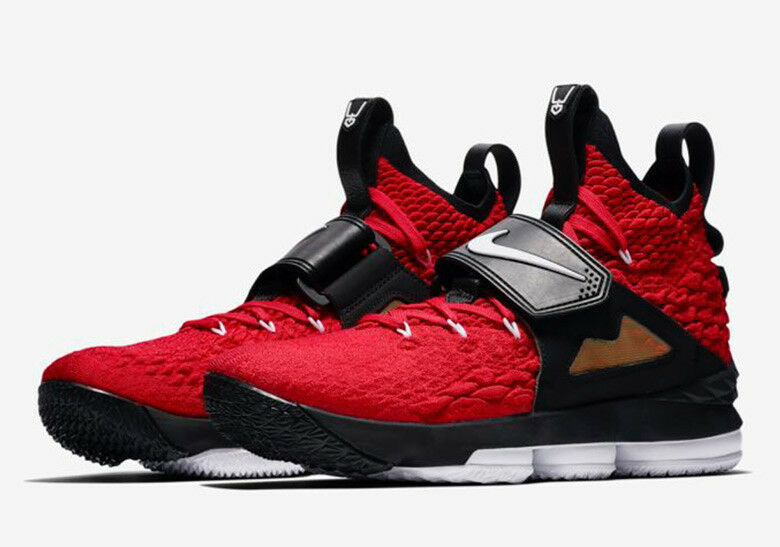 2d6b755ce9 Nike LeBron 15 XV Red Diamond Turf Prime Deion Sanders Size 14. AO9144-600