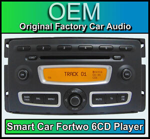 smart car fortwo car stereo 6 disc cd player head unit. Black Bedroom Furniture Sets. Home Design Ideas