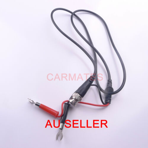 Hot BNC to Fork End Clips Coaxial Test Leads for Fluke oscilloscope Multimeter