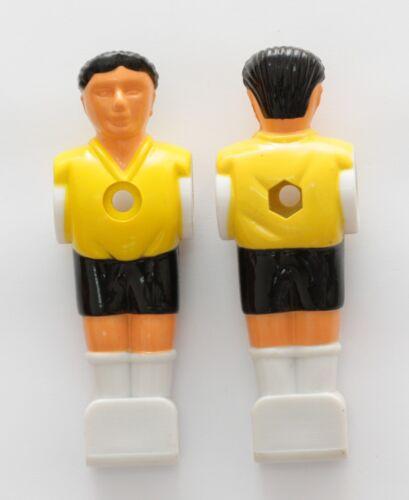 Kickerfigur Kicker Figur für 16mm Stange Tischfussballspieler gelb// schwarz 11x