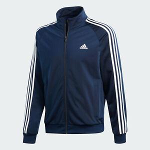 Adidas-Herren-ESS-3S-Jacke-Track-Top-Sportjacke-Sweatjacke-Navy-Groesse-M-NEU