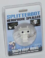 Splitterbot Headphone Splitter - Share Music MP3 Player i-Phone - New Free P/P !