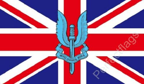 WHO DARES WINS FLAG BRITISH MILITARY FLAGS Size 5x3 Feet