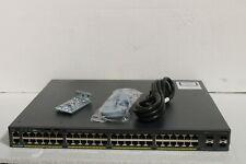 Cisco Catalyst (WS-C2960X-48LPS-L) 48-Ports Desktop Ethernet Switch