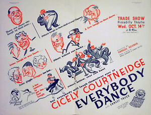 EVERYBODY-DANCE-1936-Cicely-Courtneidge-Ernest-Truex-Percy-Parsons-TRADE-ADVERT