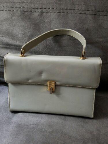 Vintage Marchioness Women's Gray Laquer Handbag Pu