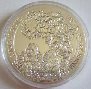 Ruanda-50-Amafaranga-2008-Wildlife-Gorilla-1-Oz-Silber