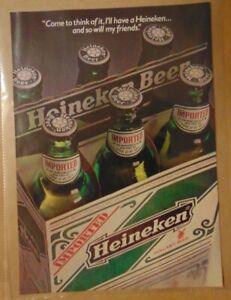 Vintage-1980-039-s-HEINEKEN-BEER-IMPORTED-1984-Original-Print-Ad-Advertisement