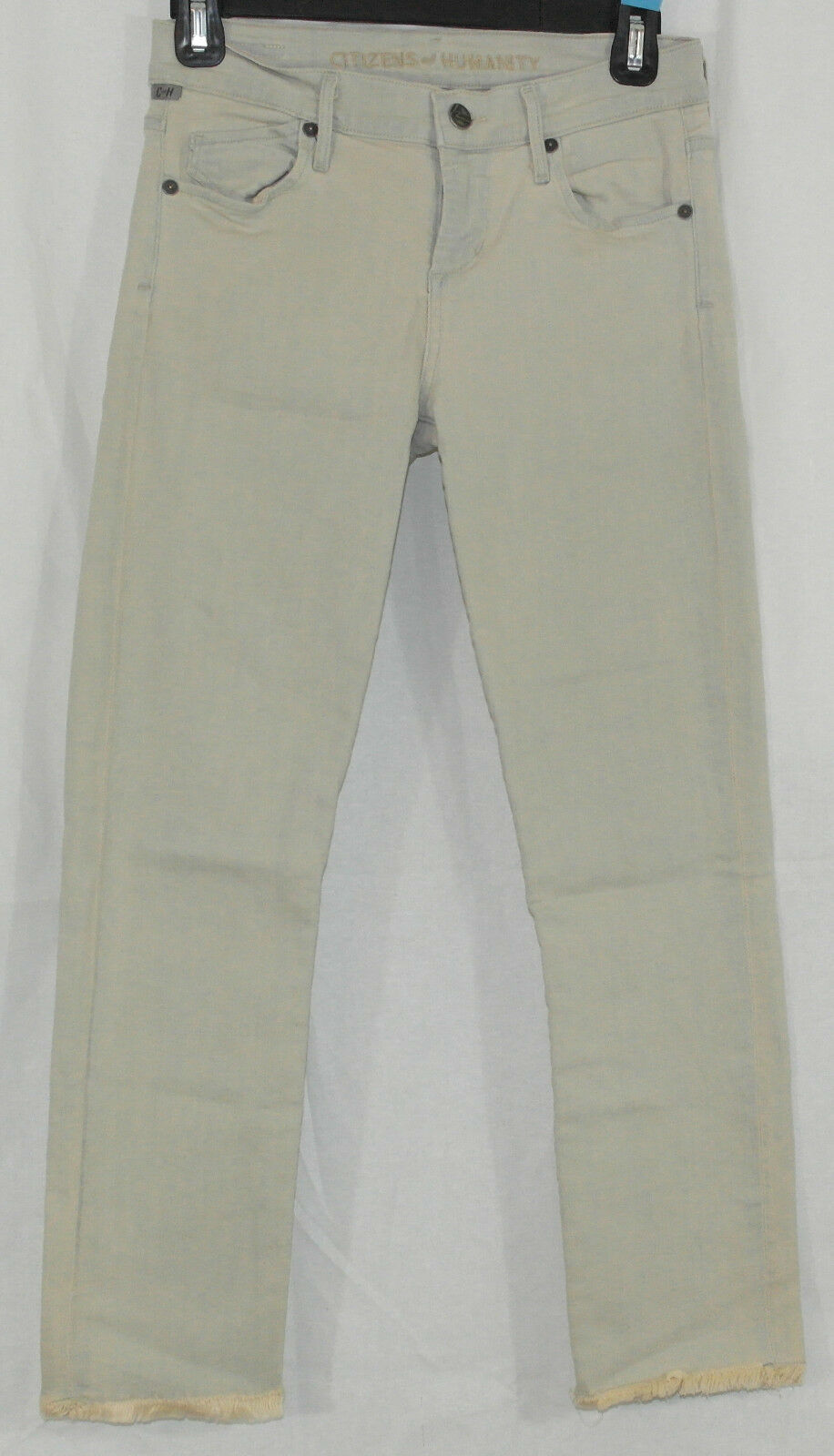 Citizens of Humanity NEW Size 26 Avedon Skinny Cut Off Crop in Imperial Tan Wash