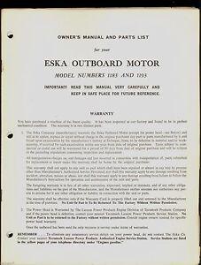 eska owners manual open source user manual u2022 rh dramatic varieties com Eska Outboard Information Eska Outboard Motors Manuals