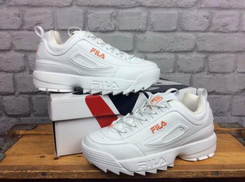Orange 5 1 Chunky Kicks 2 39 Trainers Uk Ii Eu Ladies Disruptor Fila White 65qvx
