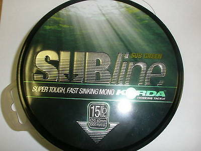 Korda Subline Main Line 1000m  *All Breaking Strains /& Colours*