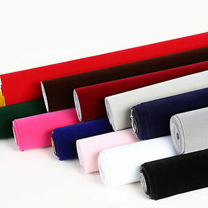 Plain self adhesive sticky velvet felt fabric crafts for Carta da parati in velluto