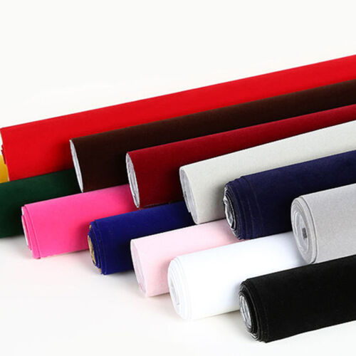 Self Adhesive Velvet Felt Fabric Non Woven Sticker Craft Sheet Roll Material Sew