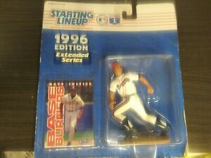 1996 David Justice Atlanta Braves Extended Starting Lineup new in pkg w// BB card