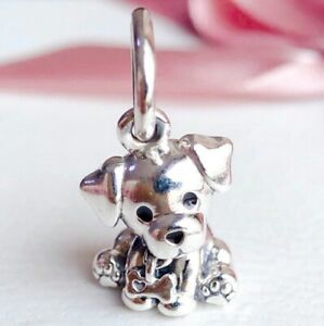 925-Sterling-Silver-Labrador-Puppy-Dangle-Charm-Bead-Fit-Snake-bracelet-2019-NEW