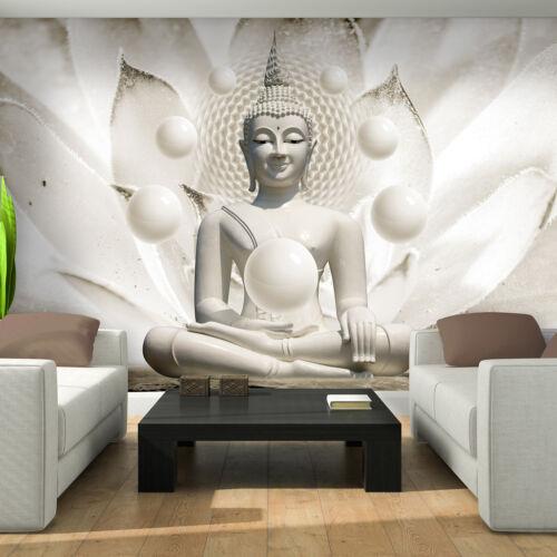 BILD POSTER WANDBILD TAPETEN BUDDHA MEDITATION KUGELN WEISS WAND FOTO  3FX3179P4
