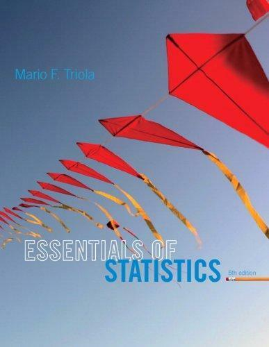 Essentials of Statistics by Mario Triola