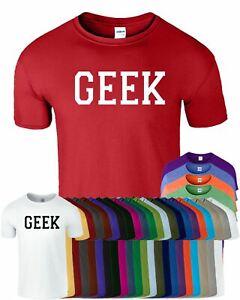 9561ef08 GEEK Nerd Mens Womens T-shirt Funny Logo Space Computer Science ...