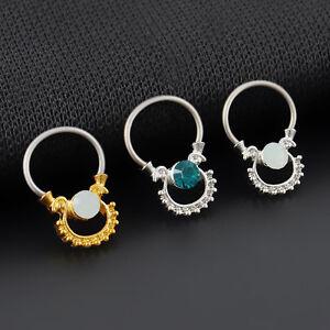 simple design stylish septum cz nose ring non