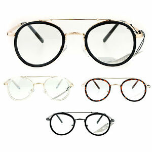 851d3fd722 Image is loading SA106-Vintage-Victorian-Round-Double-Frame-Mens-Clear-