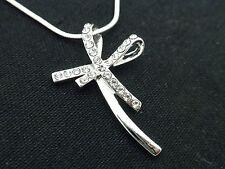 Cross Women Pendant Necklace Crystal Dangle Unique & New