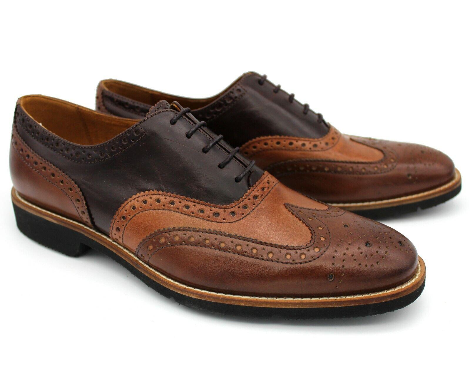 migliore qualità  S22 Marronee in pelle nuova linea linea linea uomo scarpe eleganti CALATA Lacci Lavoro Formali EU 41  vendita di offerte