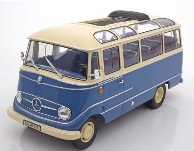 Norev 1965 Mercedes Benz O319 blu Y Beige le 1000 un. 1 18New