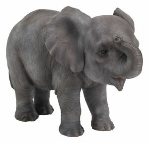 Elephant-Baby-Lifelike-Ornament-Gift-Indoor-or-Outdoor-Zoo-Pet-Pals-NEW