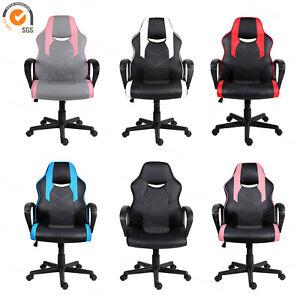 Computer Gaming Desk Chair Tilt Function Padded Armrests Ergonomics Office Chair Ebay