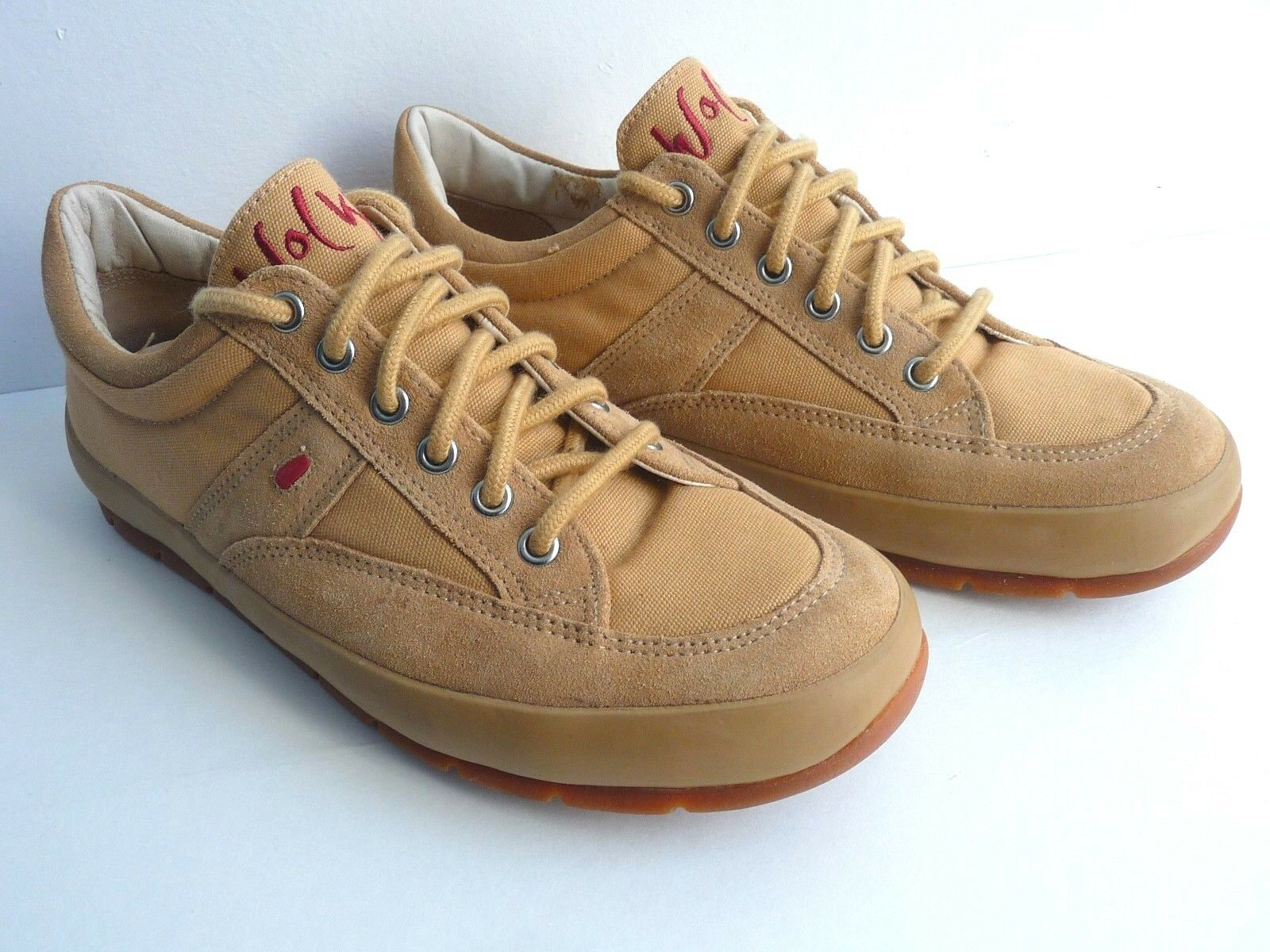 Wolky Suede Canvas Tan Walking Sneaker shoes ART 227 Size EUR 41 US 9.5  Women's