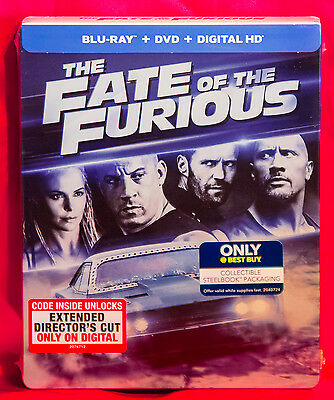 The Fate Of The Furious Best Buy Steelbook Blu Ray Fast Furious 8 Ebay