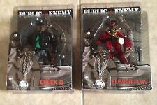 Mezco Public Enemy Chuck D & Flavor Flav set 2 action figures NEW factory sealed
