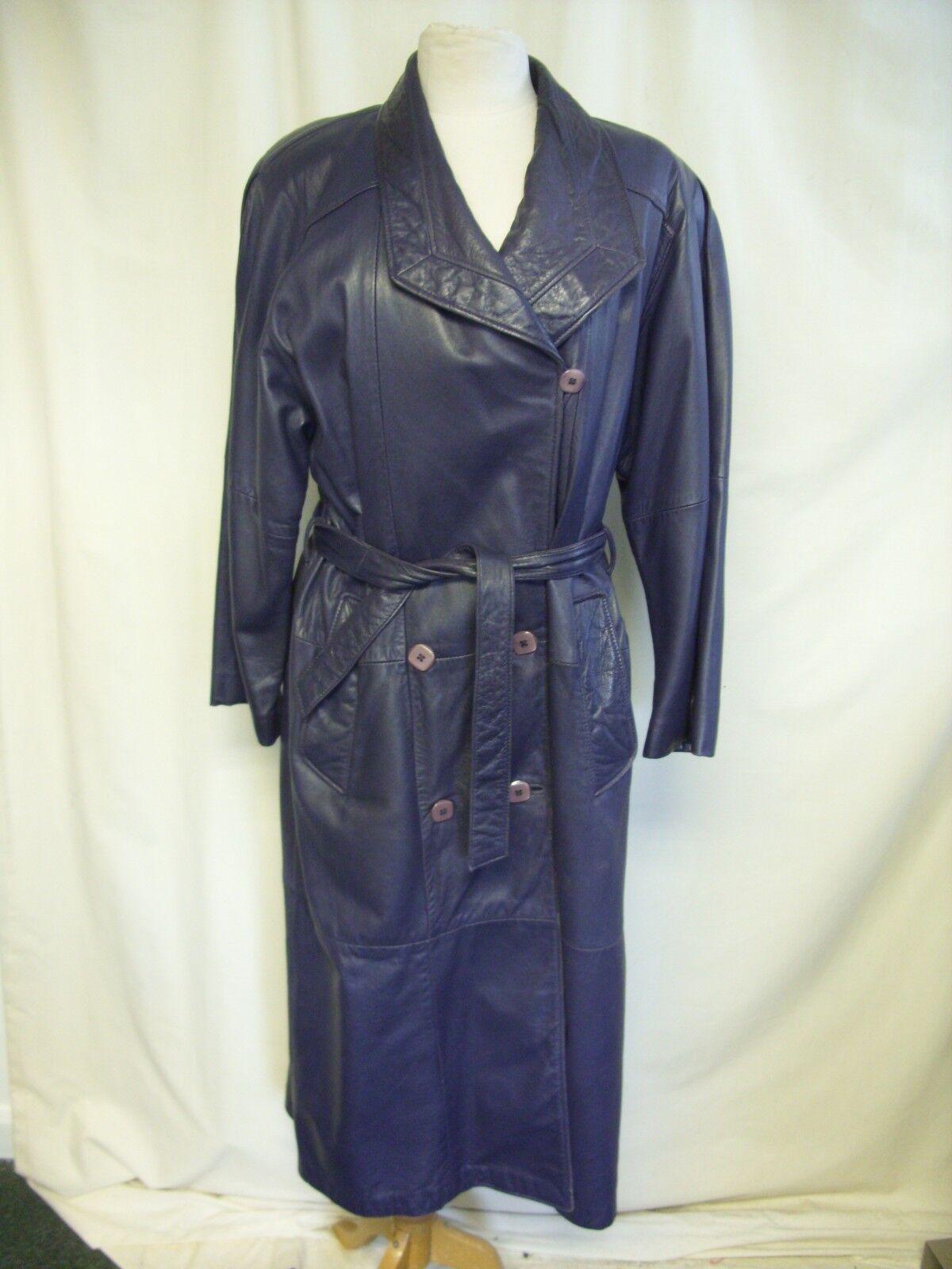 Ladies Coat Bovines, very soft purple leather, bust 40-42 , , , length 49 , 2220 4894f0