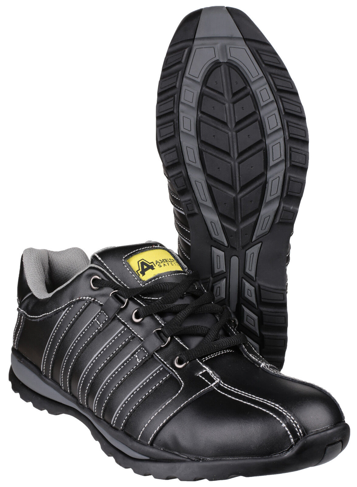 Amblers FS50 Safety hommes noir Steel Toe Cap Trainers Chaussures UK4-12